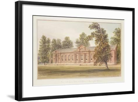 The Orangery or Greenhouse in the Garden of Kensington Palace-John Edmund Buckley-Framed Art Print