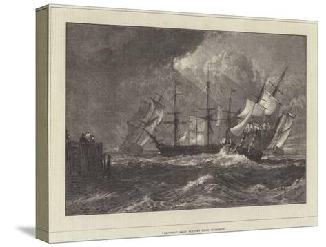 Shipping, from Turner's Liber Studiorum-J^ M^ W^ Turner-Stretched Canvas Print