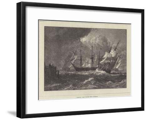 Shipping, from Turner's Liber Studiorum-J^ M^ W^ Turner-Framed Art Print