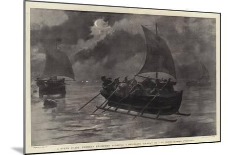 A Stern Chase, Prussian Excisemen Pursuing a Smuggling Ice-Boat on the Russo-German Frontier-Joseph Nash-Mounted Giclee Print
