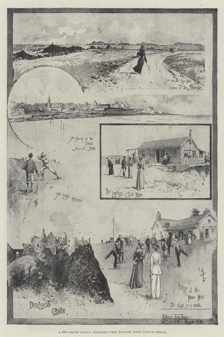 A New Golfing Ground, Pencillings from Portrush, North Coast of Ireland-Joseph Holland Tringham-Stretched Canvas Print