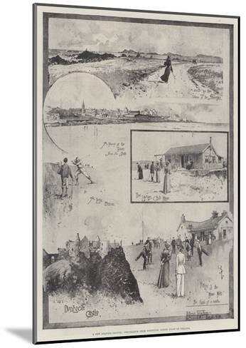 A New Golfing Ground, Pencillings from Portrush, North Coast of Ireland-Joseph Holland Tringham-Mounted Giclee Print