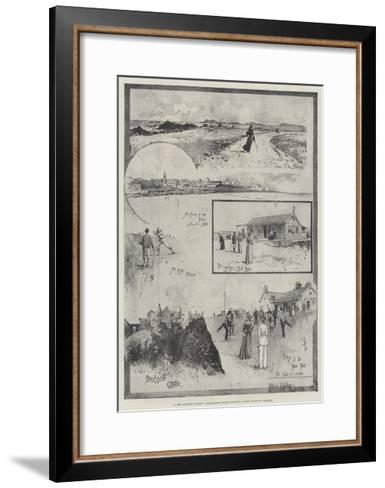 A New Golfing Ground, Pencillings from Portrush, North Coast of Ireland-Joseph Holland Tringham-Framed Art Print