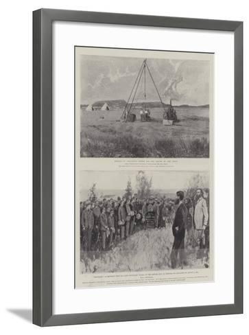 The War in South Africa-Joseph Holland Tringham-Framed Art Print