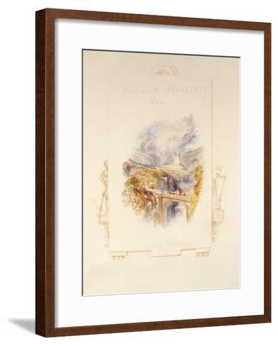 Johnny Armstrong's Tower, C.1832-J^ M^ W^ Turner-Framed Art Print