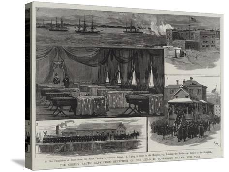 The Greely Arctic Expedition, Reception of the Dead at Governor's Island, New York-Joseph Nash-Stretched Canvas Print