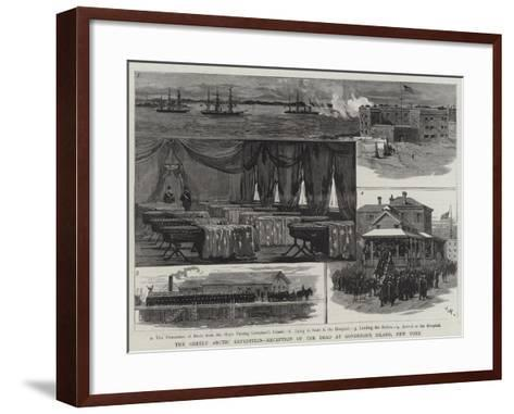The Greely Arctic Expedition, Reception of the Dead at Governor's Island, New York-Joseph Nash-Framed Art Print