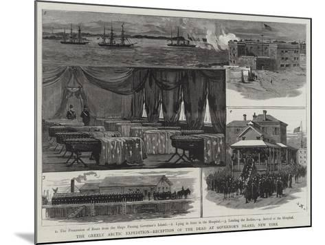 The Greely Arctic Expedition, Reception of the Dead at Governor's Island, New York-Joseph Nash-Mounted Giclee Print