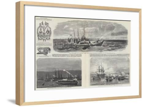 The Baltic Fleet-John Wilson Carmichael-Framed Art Print