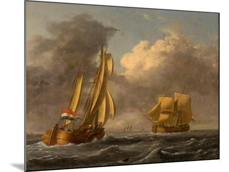 Dutch Galliots Off the Coast-John Wilson Carmichael-Mounted Giclee Print