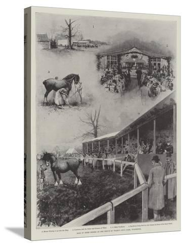 Sale of Shire Horses at the Prince of Wales's Stud-Farm, Wolferton-Joseph Holland Tringham-Stretched Canvas Print