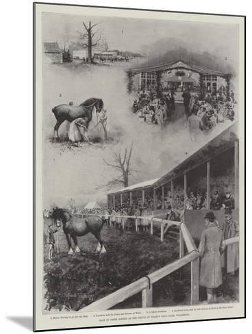 Sale of Shire Horses at the Prince of Wales's Stud-Farm, Wolferton-Joseph Holland Tringham-Mounted Giclee Print