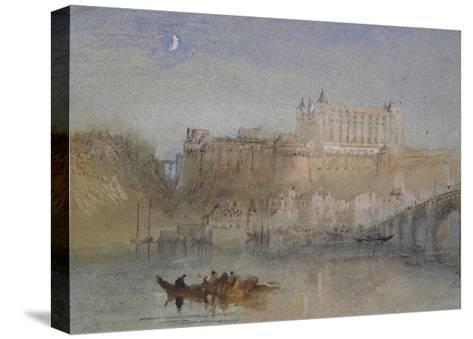 The Bridge and Château at Amboise-J^ M^ W^ Turner-Stretched Canvas Print
