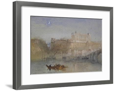 The Bridge and Château at Amboise-J^ M^ W^ Turner-Framed Art Print