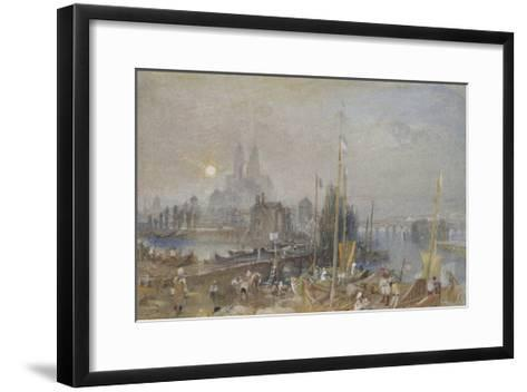 The Canal of the Loire and Cher-J^ M^ W^ Turner-Framed Art Print