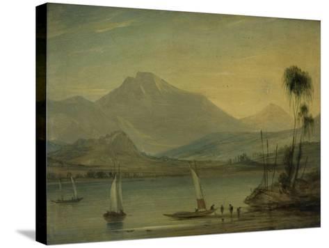 Loch Fyne, Herring Fishing-John Wilson Ewbank-Stretched Canvas Print