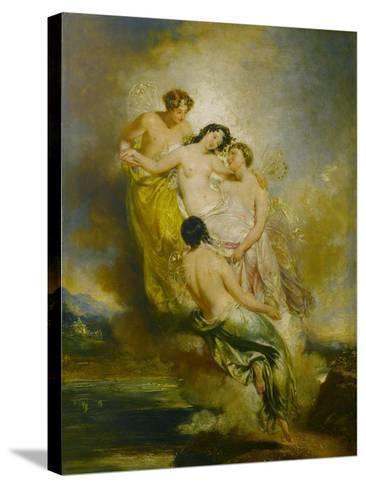 Psyche Conveyed by Zephyrs to the Valley of Pleasure, 1826-John Wood-Stretched Canvas Print