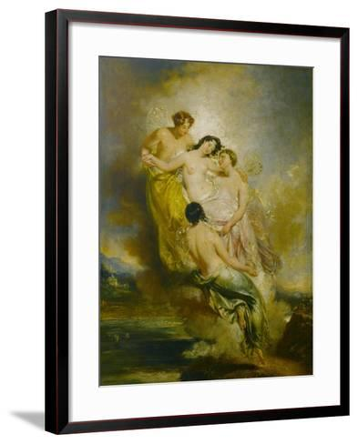 Psyche Conveyed by Zephyrs to the Valley of Pleasure, 1826-John Wood-Framed Art Print