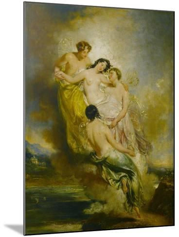 Psyche Conveyed by Zephyrs to the Valley of Pleasure, 1826-John Wood-Mounted Giclee Print