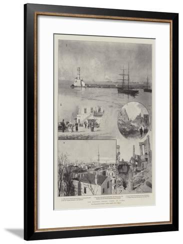 The Eastern Crisis, Views of Canea-Joseph Holland Tringham-Framed Art Print