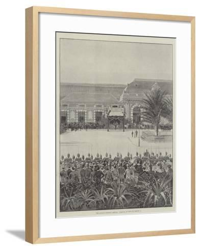 The Queen's Holiday Abroad, Arrival at Nice on 15 March-Joseph Holland Tringham-Framed Art Print