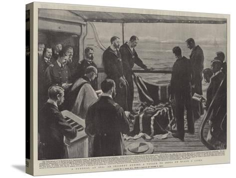 A Funeral at Sea, at Incident During a Voyage to India on Board a Liner-Joseph Nash-Stretched Canvas Print