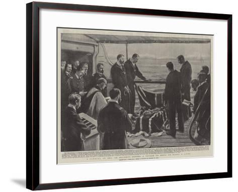 A Funeral at Sea, at Incident During a Voyage to India on Board a Liner-Joseph Nash-Framed Art Print