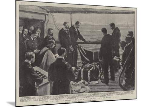 A Funeral at Sea, at Incident During a Voyage to India on Board a Liner-Joseph Nash-Mounted Giclee Print