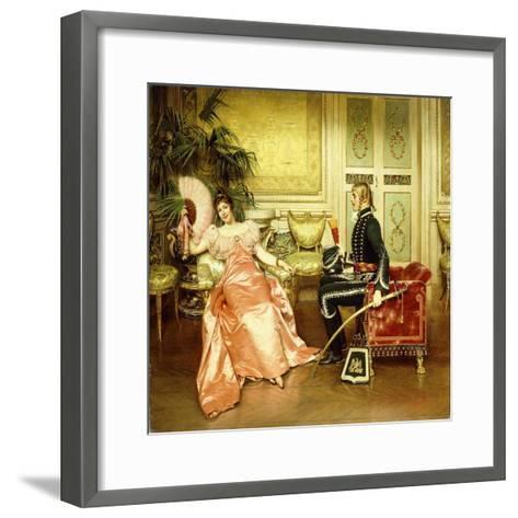 Flirtation-Joseph Frederick Charles Soulacroix-Framed Art Print
