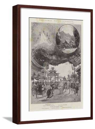 Christmas Entertainments-Joseph Holland Tringham-Framed Art Print