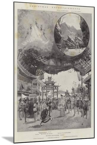 Christmas Entertainments-Joseph Holland Tringham-Mounted Giclee Print