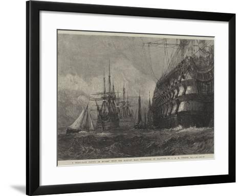A First-Rate Taking in Stores-J^ M^ W^ Turner-Framed Art Print