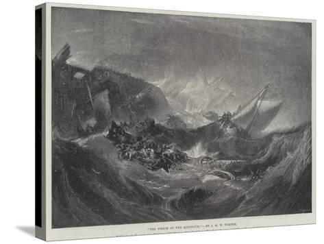 The Wreck of the Minotaur-J^ M^ W^ Turner-Stretched Canvas Print