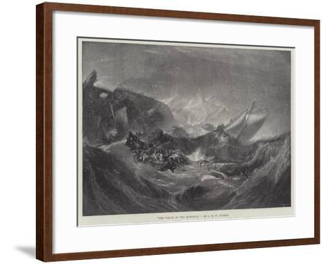 The Wreck of the Minotaur-J^ M^ W^ Turner-Framed Art Print