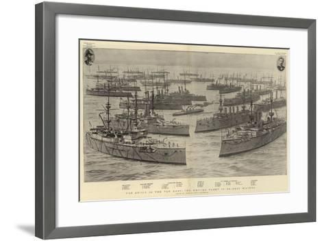 The Crisis in the Far East, the British Fleet in Chinese Waters-Joseph Nash-Framed Art Print