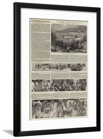 Paintings in the Ajunta Caves, Museum of the East India House-John Wykeham Archer-Framed Art Print