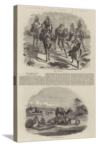 Scenes in the Desert-John Wykeham Archer-Stretched Canvas Print