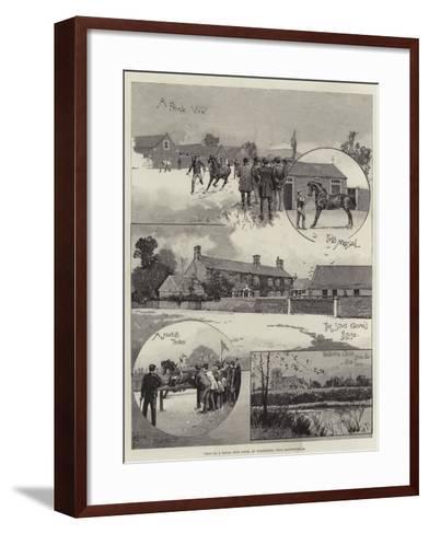 Visit to a Royal Stud Farm, at Wolferton, Near Sandringham-Joseph Holland Tringham-Framed Art Print