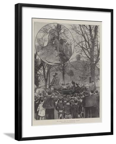 The Queen's Visit to Castleknock College-Joseph Holland Tringham-Framed Art Print