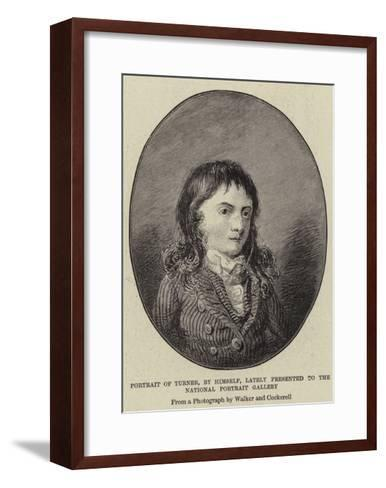 Portrait of Turner, by Himself, Lately Presented to the National Portrait Gallery-J^ M^ W^ Turner-Framed Art Print