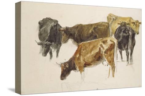 Study of a Group of Cows, C. 1801-J^ M^ W^ Turner-Stretched Canvas Print