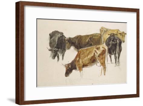 Study of a Group of Cows, C. 1801-J^ M^ W^ Turner-Framed Art Print
