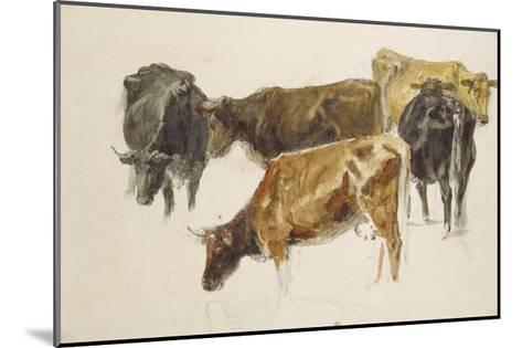 Study of a Group of Cows, C. 1801-J^ M^ W^ Turner-Mounted Giclee Print