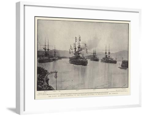 Sir Harry Rawson's Farewell to the Channel Squadron on Relinquishing His Command-Joseph Nash-Framed Art Print
