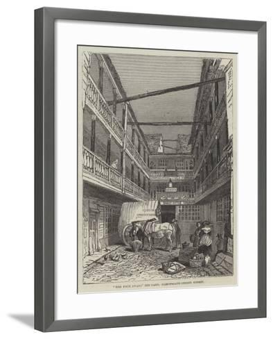 The Four Swans Inn-Yard, Bishopsgate-Street Within-John Wykeham Archer-Framed Art Print