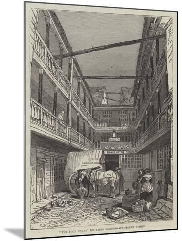 The Four Swans Inn-Yard, Bishopsgate-Street Within-John Wykeham Archer-Mounted Giclee Print