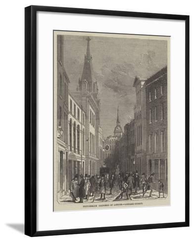 Picturesque Sketches of London, Lombard-Street-John Wykeham Archer-Framed Art Print