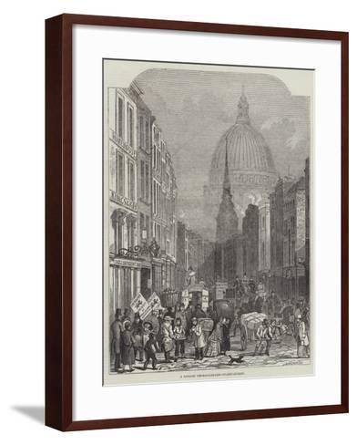 A London Thoroughfare, Fleet-Street-John Wykeham Archer-Framed Art Print