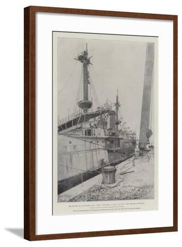 The Building of a Battle-Ship-Joseph Holland Tringham-Framed Art Print