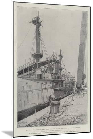 The Building of a Battle-Ship-Joseph Holland Tringham-Mounted Giclee Print